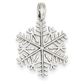 clearance item 14k white gold snowflake charm pendant