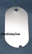 plain dog tag