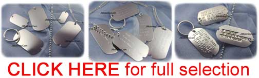 silver dog tag selection