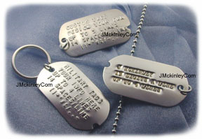 embossed dog tag