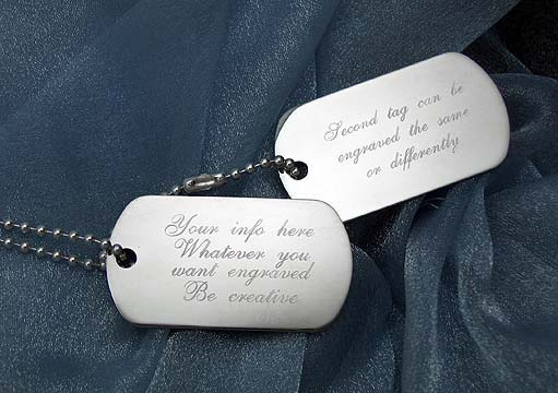 sterling silver dog tags engraved sterling silver dog tags