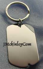 sterling silver dog tag key ring