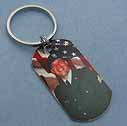photo dog tag key ring