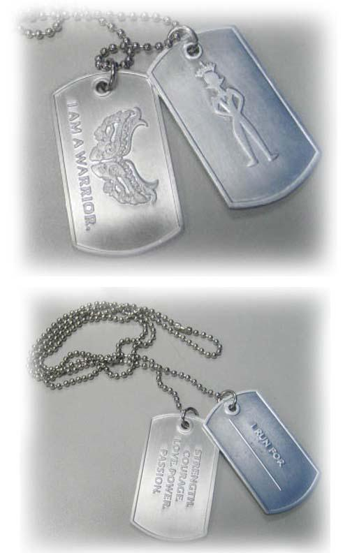 embossed cheap logo dog tags